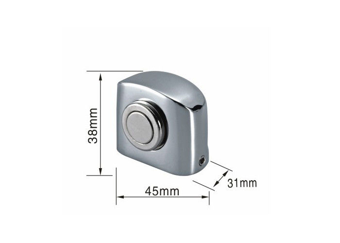 Heavy Duty Magnetic Door Stop Holder 45x31x38mm Silver Color Floor Mounted