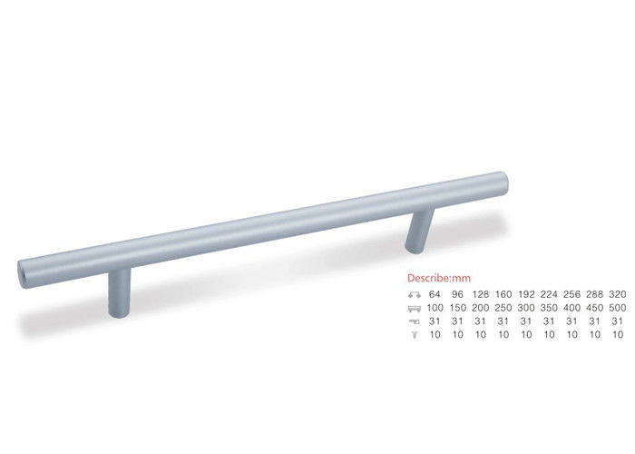 Popular Design Aluminium Pull Handles , Smooth Surface Treatment Indoor Door Handles 96/128/160mm